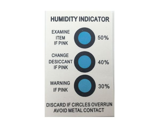 EINECS No.231-545-4 And CAS No.64365-11-3 Dry Packing 30%-40%-50% 3 Dots Moisture Indicator Card