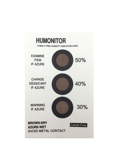 3 Dots 30%40%50% Cobalt-free HIC Humidity Indicator Card