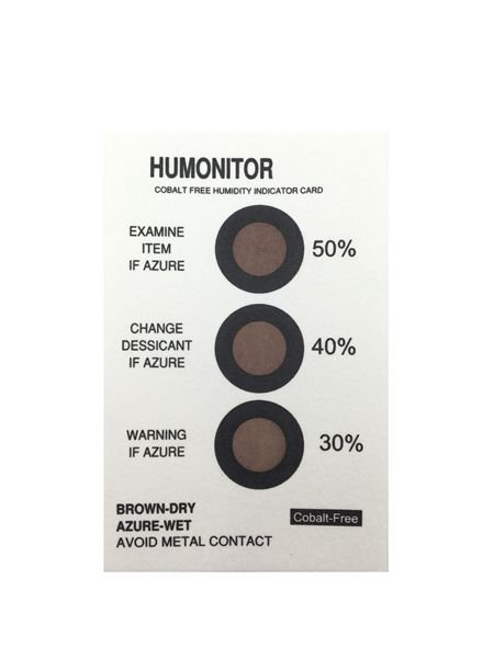 3 Dots 30%-40%-50% Cobalt-free Humidity Indicator label
