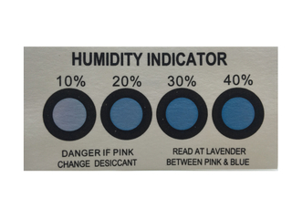 Cobalt Four Points Humidity Indicator Card Strip