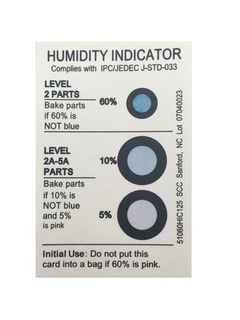 Round Humidity Indicator Card
