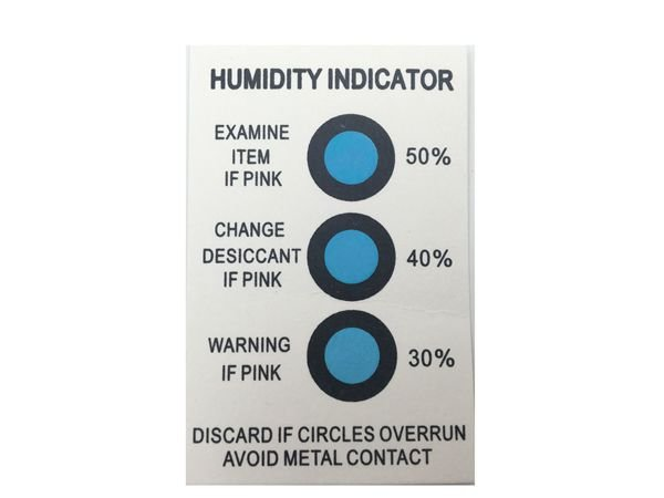 2018 Hot sale 30-50% 3 Spots Humidity Indicator Card